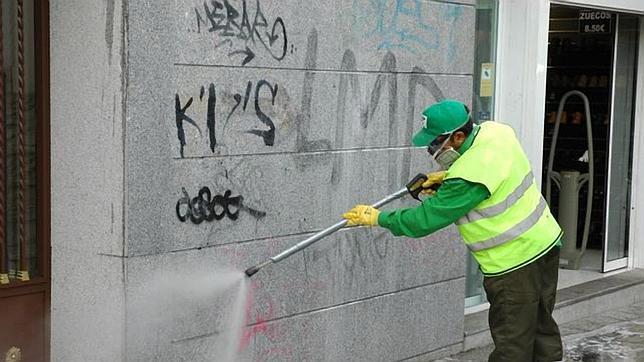 limpieza graffitis en alcobendas