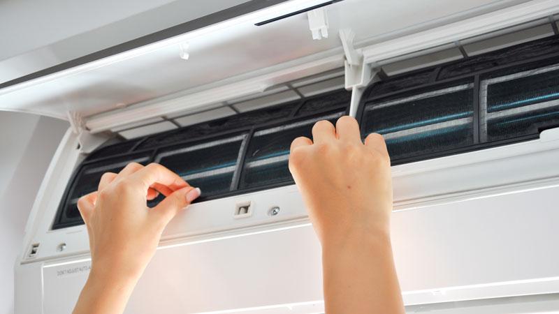 limpiar el aparato de aire acondicionado