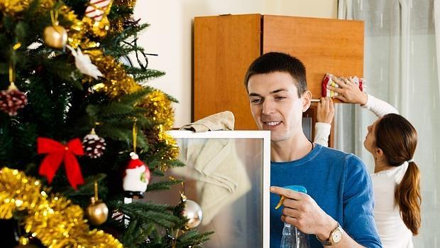 limpieza del hogar en Navidad